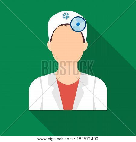 Pet doctor icon in flate design isolated on white background. Veterinary clinic symbol stock vector illustration.