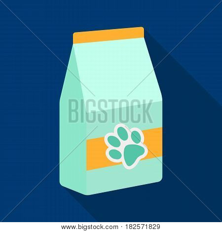 Pet food icon in flate design isolated on white background. Veterinary clinic symbol stock vector illustration.