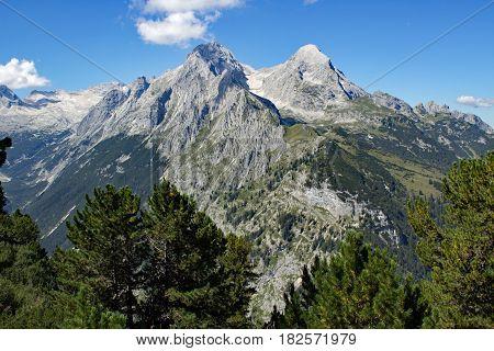 Alpspitze and Hochblassen in the bavarian alps