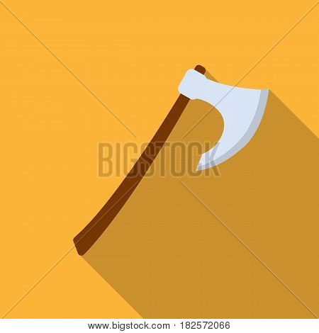 Viking battle-axe icon in flate design isolated on white background. Vikings symbol stock vector illustration.