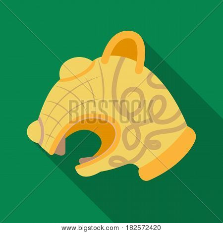 Animal head of viking's ship icon in flate design isolated on white background. Vikings symbol stock vector illustration.