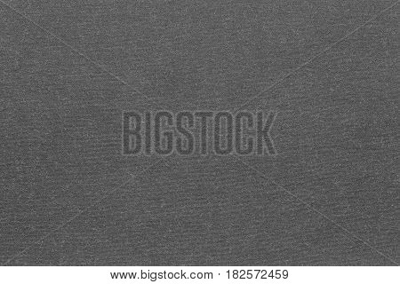 background and texture of knitted or woolen fabric of monotonous dark gray color