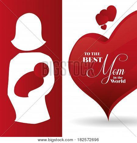 best mom ever card creative decoration vector illustration eps 10