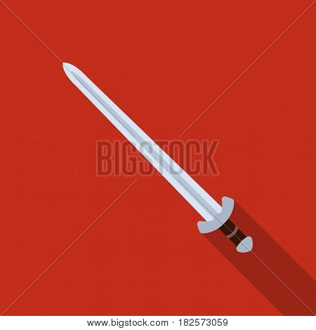 Viking sword icon in flate design isolated on white background. Vikings symbol stock vector illustration.