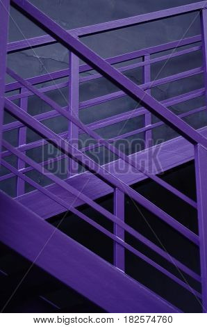 Stair railings. Purple fence. Can be used as a background
