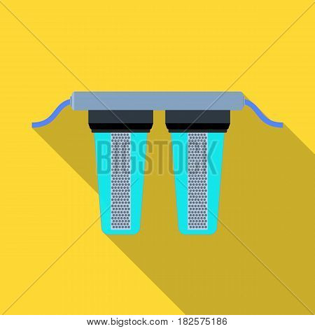 Water filters icon in flate design isolated on white background. Water filtration system symbol stock vector illustration.