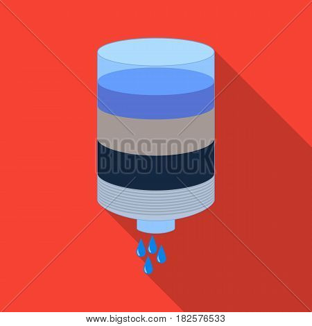 Water filter cartridge icon in flate design isolated on white background. Water filtration system symbol stock vector illustration.