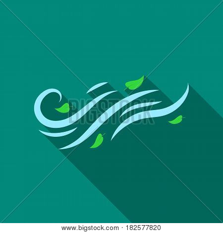 Windy weather icon in flate style isolated on white background. Weather symbol vector illustration.