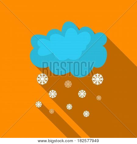 Snowfall icon in flate style isolated on white background. Weather symbol vector illustration. poster