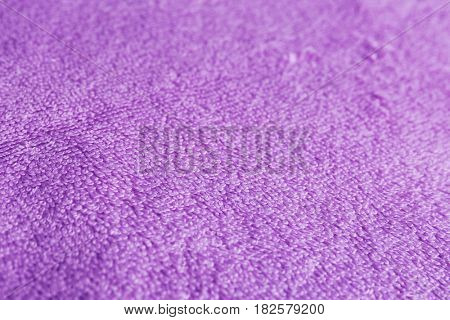 Lilac terry cloth texture as background