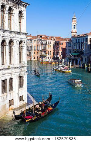 Venice Gondola In Grand Canal