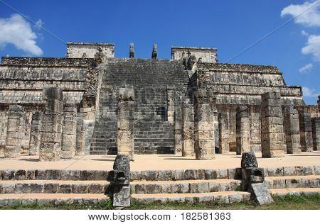 Temple of the Warriors, Chichen Itza, Yucatan, Mexico