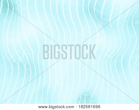 3d illustration of blue waves abstract bionic structure background