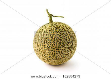 Organic Orange Cantaloupe Melon Fresh Fruit Isolated