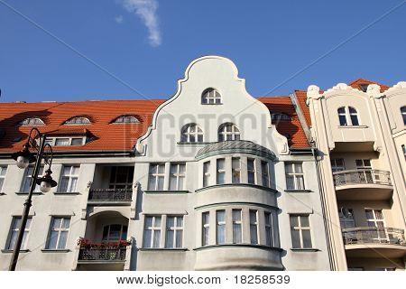 Poland - Bydgoszcz city in Kuyavia (Kujawy) region. Old town tenements beautiful landmarks. poster