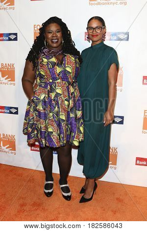 NEW YORK-APR 19: Tanya Fields (L) and Joy Bryant attend the Food Bank for New York City's Can-Do Awards Dinner 2017 at Cipriani's on April 19, 2017 in New York City.