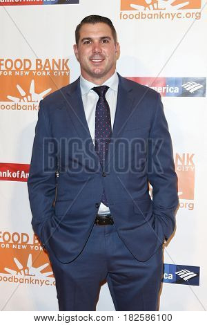 NEW YORK-APR 19: NFL player Zak Deossie attends the Food Bank for New York City's Can-Do Awards Dinner 2017 at Cipriani's on April 19, 2017 in New York City.