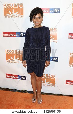 NEW YORK-APR 19: Actress Amirah Vann attends the Food Bank for New York City's Can-Do Awards Dinner 2017 at Cipriani's on April 19, 2017 in New York City.