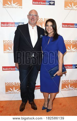 NEW YORK-APR 19: Phillip Baltz (L) and Christina Grdovic attend the Food Bank for New York City's Can-Do Awards Dinner 2017 at Cipriani's on April 19, 2017 in New York City.