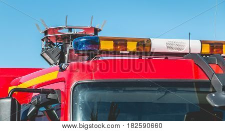 Flashing Lights Of An Extrication Vehicle