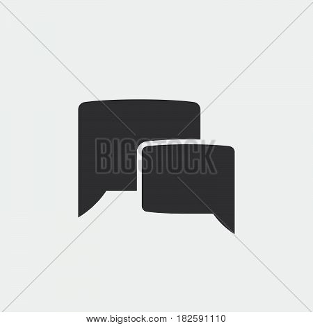 chat icon isolated in white background .