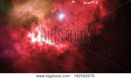 Open Space, Stars And Nebulae In Space