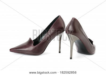 A classic shoes isolated on white background