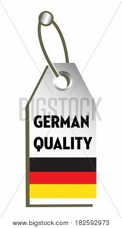 Isolated tag with the text German quality written on the tag