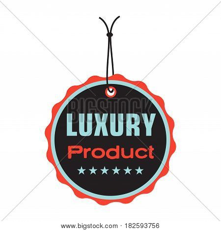 Isolated tag with the text luxury product