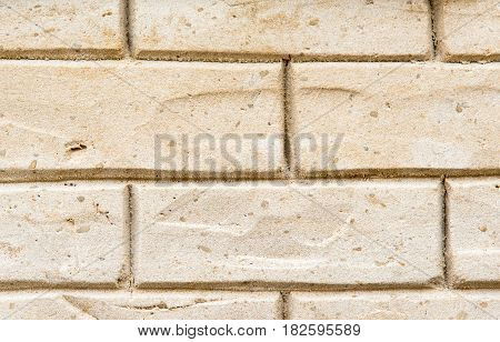 Background from a brickwall made of sand