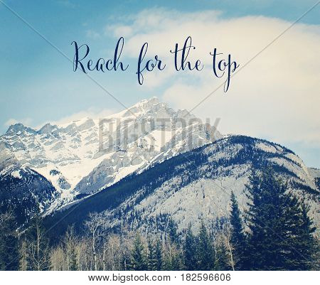 Conceptual Image With Snow Covered Mountains