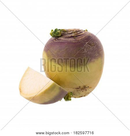 Fresh Swede Isolated On A White Background
