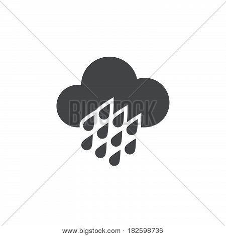 Heavy rain weather icon isolated on white background .