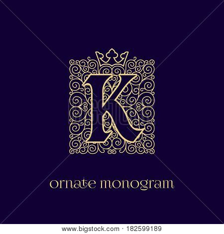 Monogram With Crown K