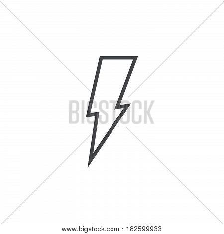 Lightning icon isolated on white background .