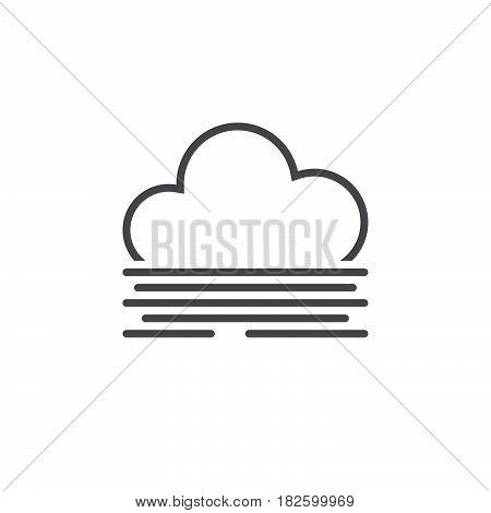 fog icon isolated on white background .