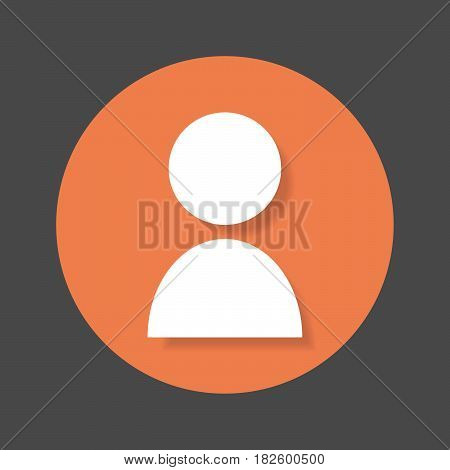 Person user account flat icon. Round colorful button Avatar circular vector sign with shadow effect. Flat style design