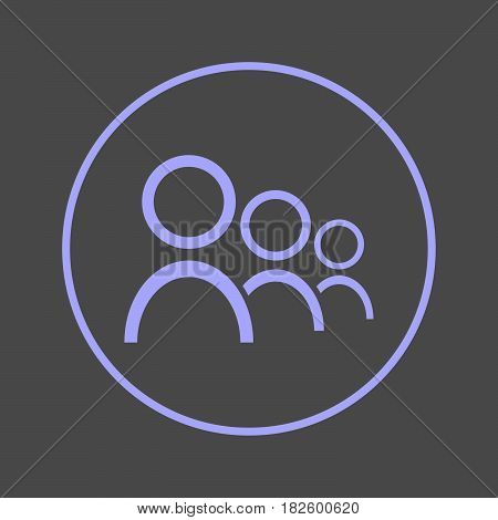 Users circular line icon. People Round colorful sign. Team flat style vector symbol