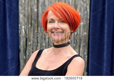 Attractive Stylish Vivacious Redhead Woman
