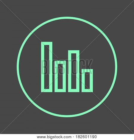 Poll circular line icon. Graph chart round colorful sign. Flat style vector symbol