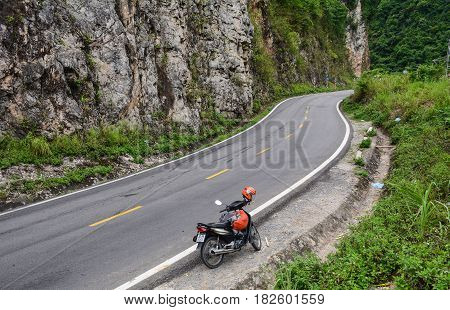 Mountain Road In Northern Vietnam