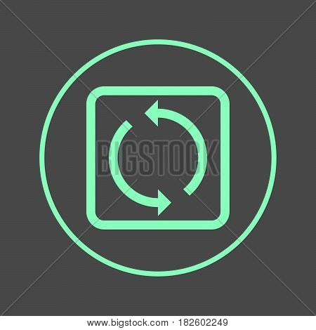 Reload refresh circular line icon. Round colorful sign. Flat style vector symbol