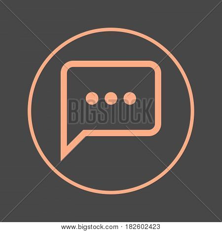 Chat speech bubble circular line icon. Round colorful sign. Flat style vector symbol