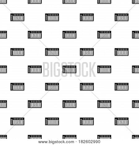 Electronic synth pattern seamless in simple style vector illustration