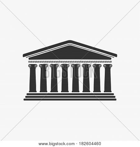 The Greece Facade Historic Building Vector Illustration