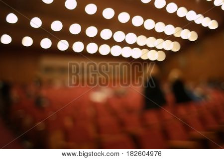 Blurred view of conference hall