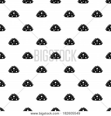 Empanada, cheburek or calzone pattern seamless in simple style vector illustration