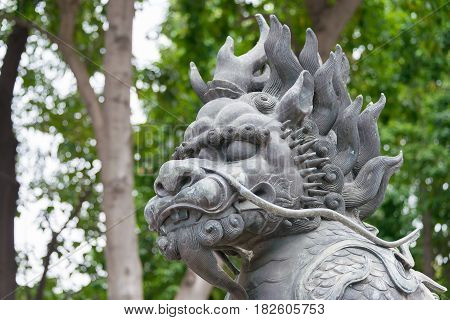 Gunagdong, China - Nov 28 2015: Statue At Foshan Ancestral Temple(zumiao Temple). A Famous Historic