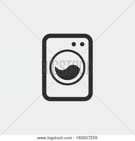 washing machine icon isolated on white background .