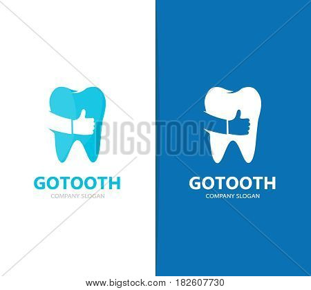 Vector of tooth and like logo combination. Dental and best symbol or icon. Unique clinic and oral logotype design template.